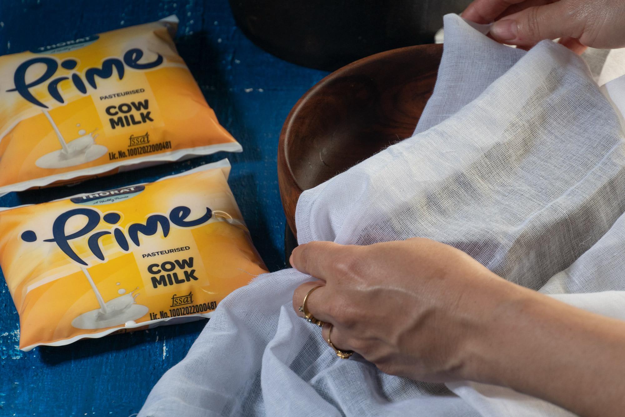 Use a muslin cloth